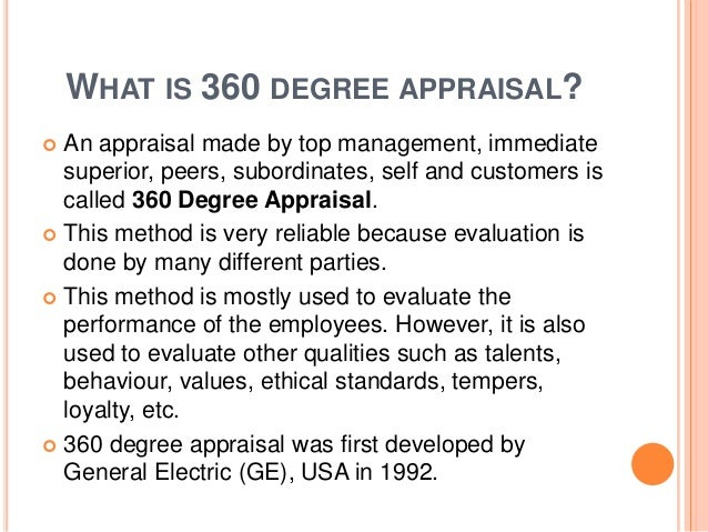 Degree Appraisal System