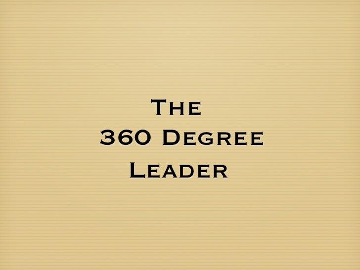 The 360 Degree   Leader