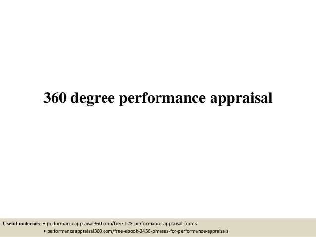 360 Degree Performance Appraisal Useful Materials: U2022  Performanceappraisal360.com/free 128  ...  Free Appraisal Forms