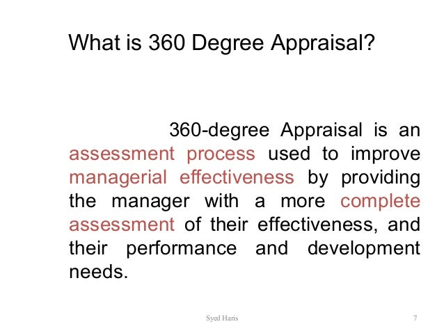 the use of 360 degree feedback in performance appraisals essay Free performance appraisals papers, essays performance feedback is not a one-off strong essays: the 360-degree performance evaluation is more.
