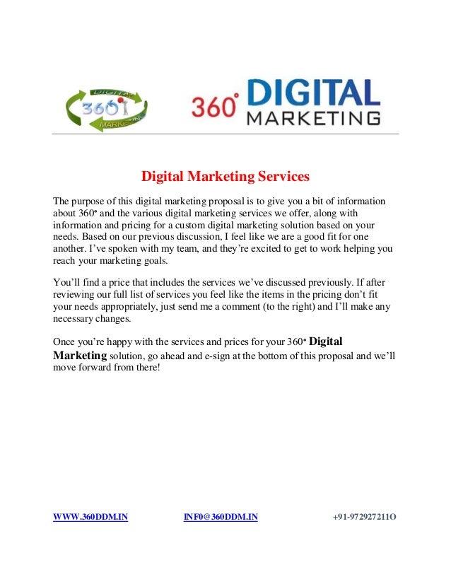 digital advertising proposal