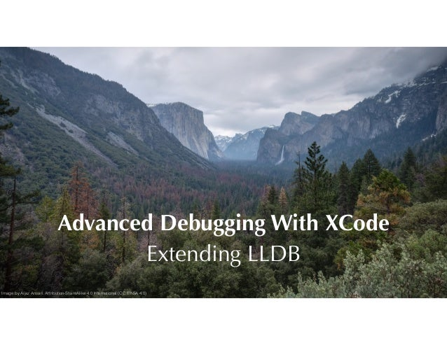 Advanced Debugging With XCode Extending LLDB Image by Aijaz Ansari. Attribution-ShareAlike 4.0 International (CC BY-SA 4.0)