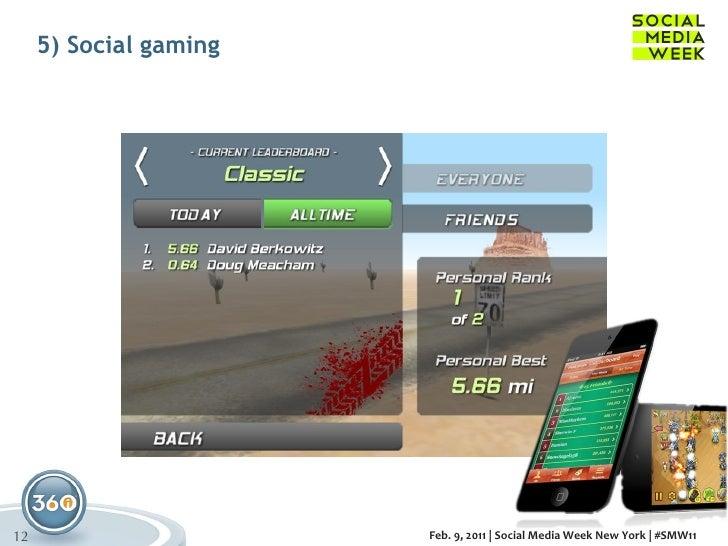 5) Social gaming