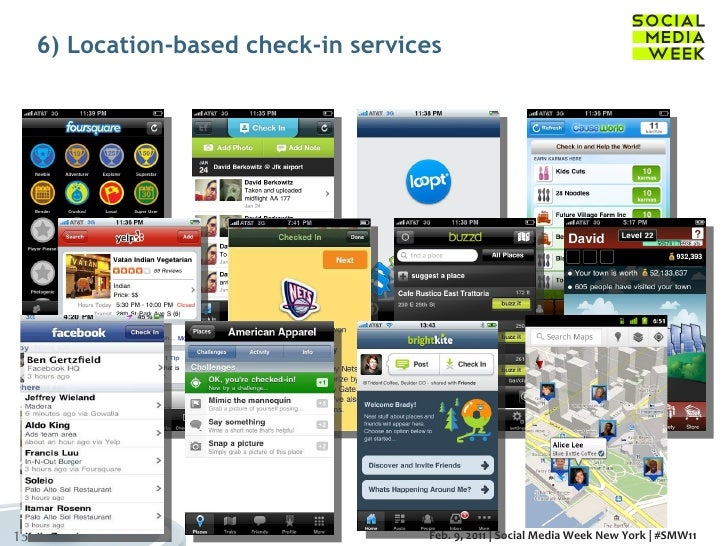 6) Location-based check-in services