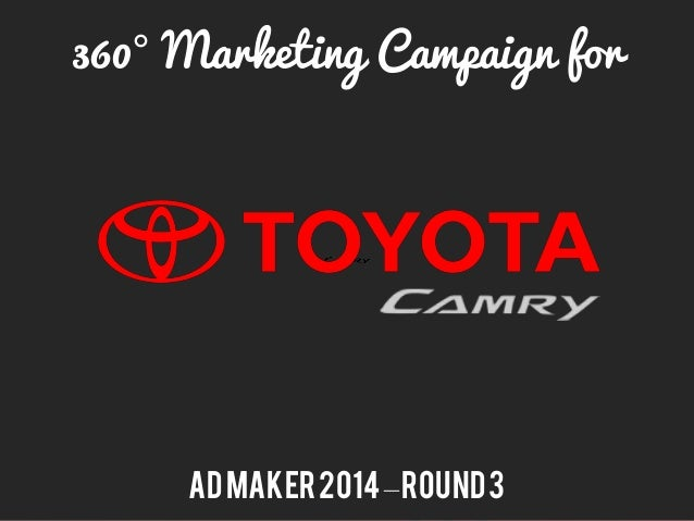 360° Marketing Campaign for ADMaker2014–Round3
