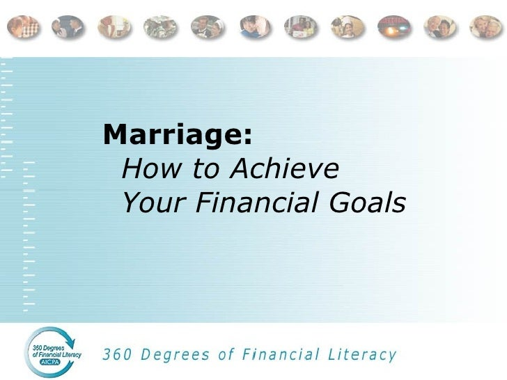 Marriage:  How to Achieve  Your Financial Goals
