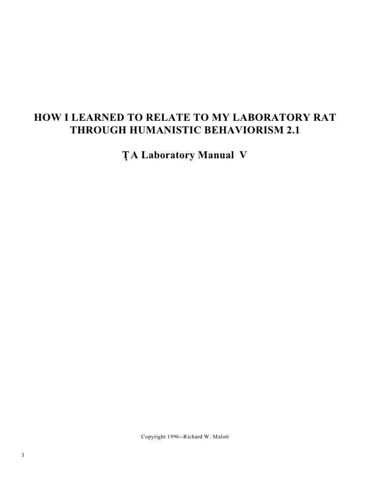 Rat Lab Manual