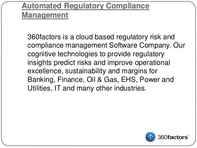 Automated Regulatory Compliance Management Slide 2