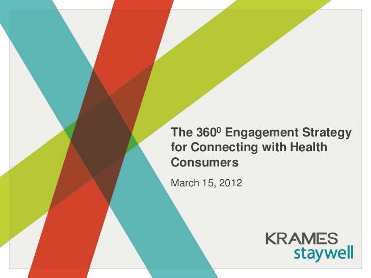 The 3600 Engagement Strategyfor Connecting with HealthConsumersMarch 15, 2012