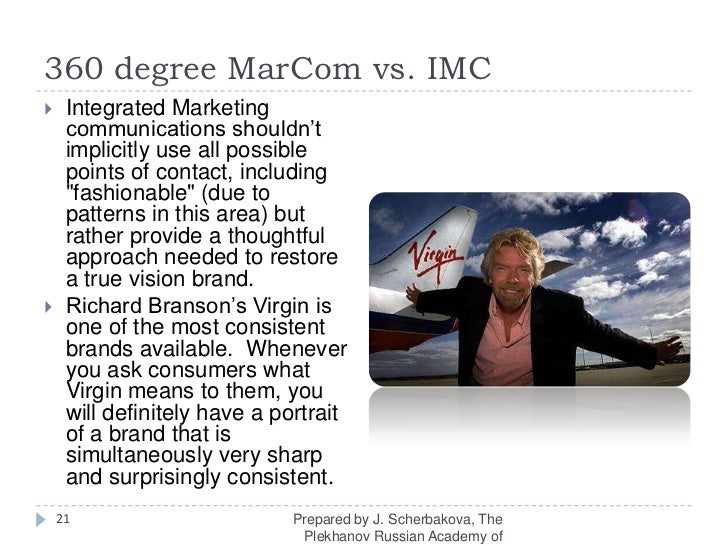 360 degree MarComvs. IMC<br />Integrated Marketing communications shouldn't  implicitly useall possible points of contact,...