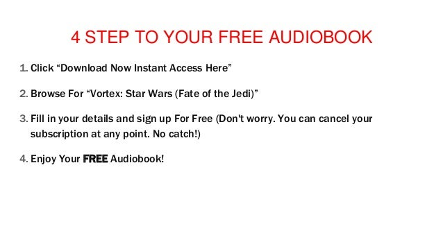 Audiobook free Trial Streaming Vortex: Star Wars (Fate of