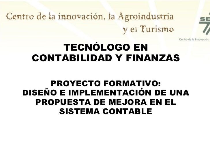 Proyectos Sena Contabilidad