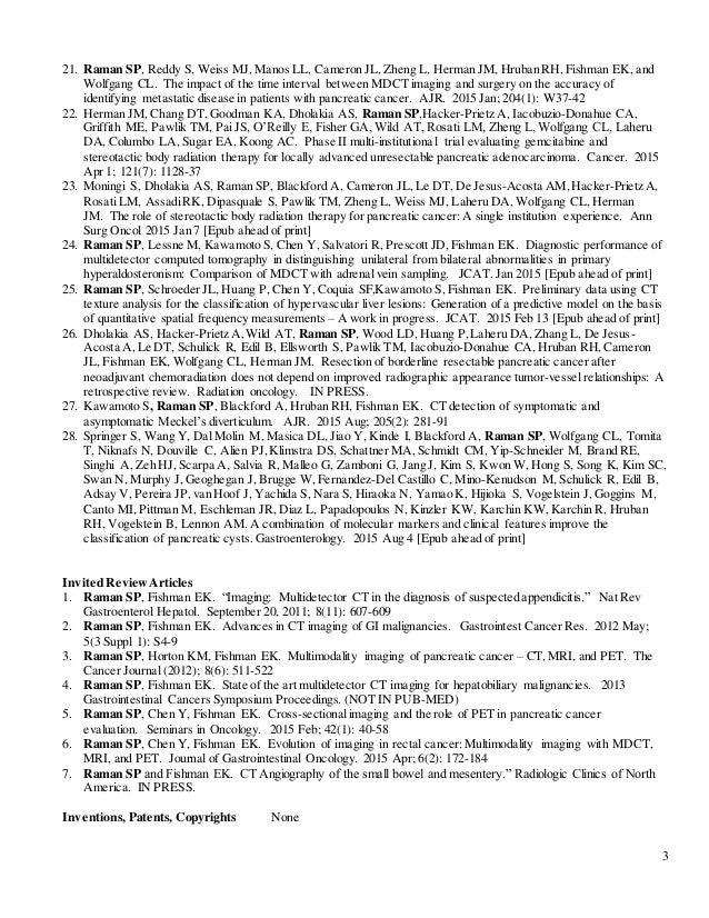 raman cv hopkins format 10