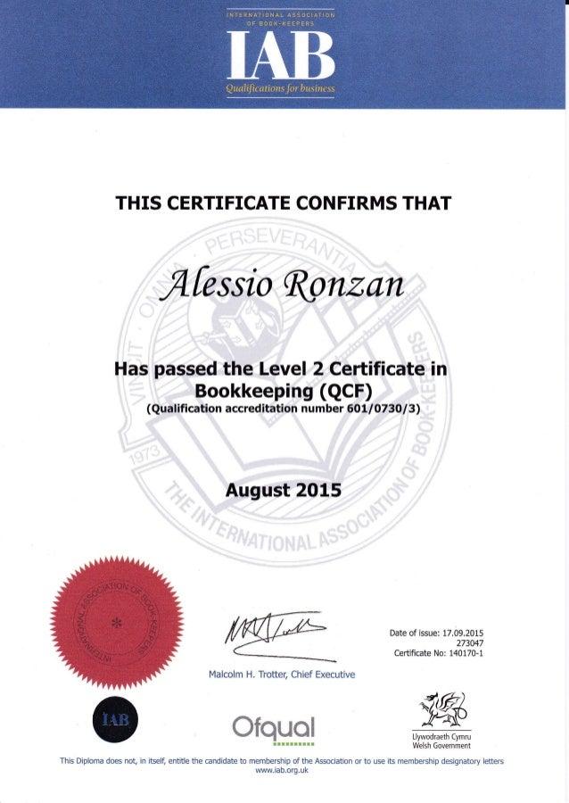 IAB Level 2 Certificate in Bookkeeping