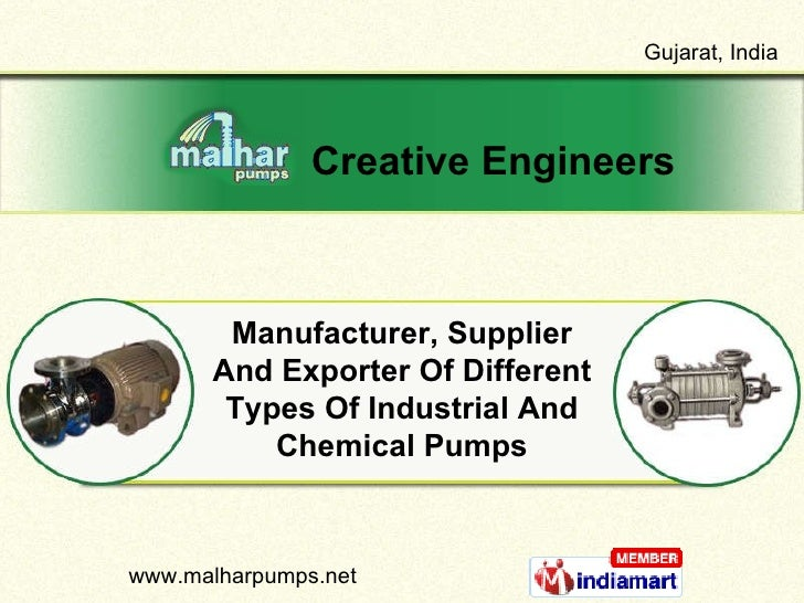 Manufacturer, Supplier And Exporter Of Different Types Of Industrial And Chemical Pumps