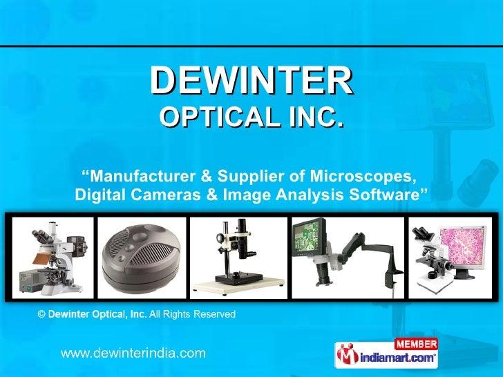 "DEWINTER OPTICAL INC. "" Manufacturer & Supplier of Microscopes,  Digital Cameras & Image Analysis Software"""