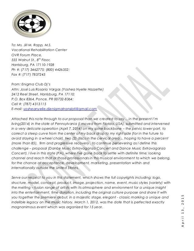 Enigma Club Djs Proposal Letter Ms Jill Rapp Ovr Pa