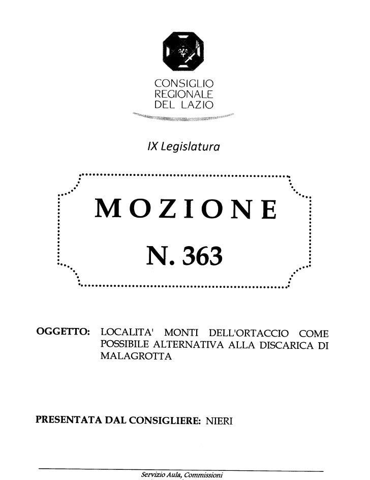 mozione 363 del 05/04/2012