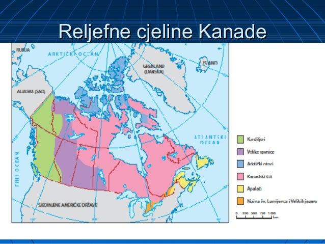 Kanada Karta Svijeta.Kanada