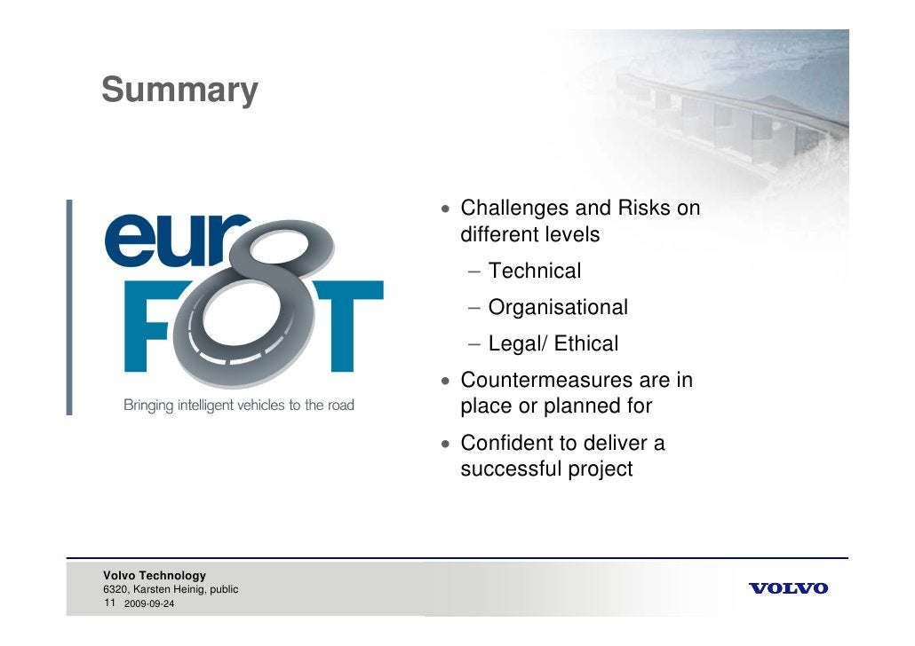 Summary                                   Challenges and Risks on                                  different levels      ...