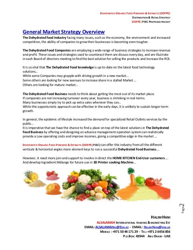 HH-DOFPE-000-General-Dehydrated Food business strategy