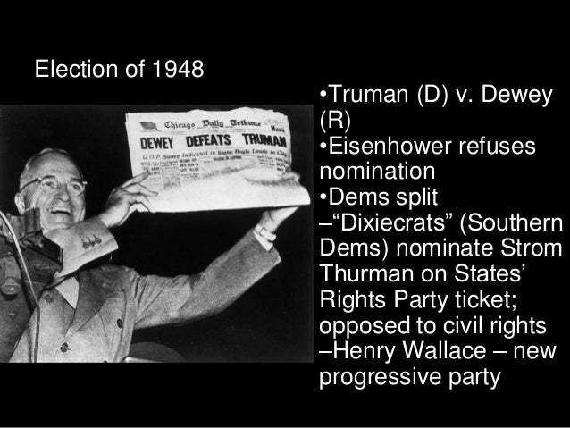 eisenhower vs truman Ap review: truman & eisenhower questions & answers to yellow review sheet handed out in class, march 1 study play identify two seeds that led to the cold war.