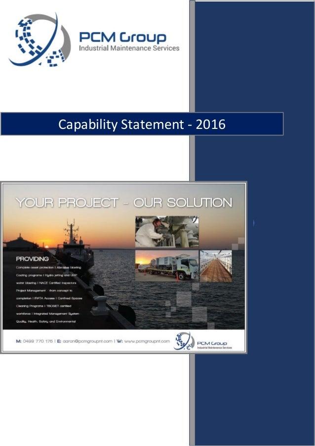 Capability Statement - 2016