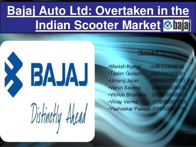 Mba marketing major project on bajaj auto ltd