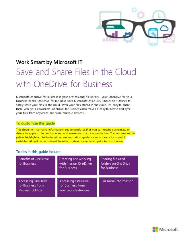 Save and Share Files in the Cloud with OneDrive for Business - Custom…
