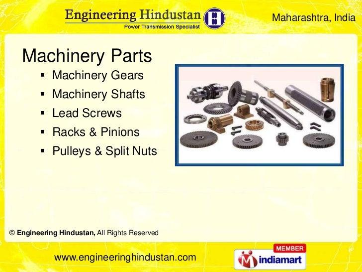 Maharashtra, India   Machinery Parts         Machinery Gears         Machinery Shafts         Lead Screws         Rack...