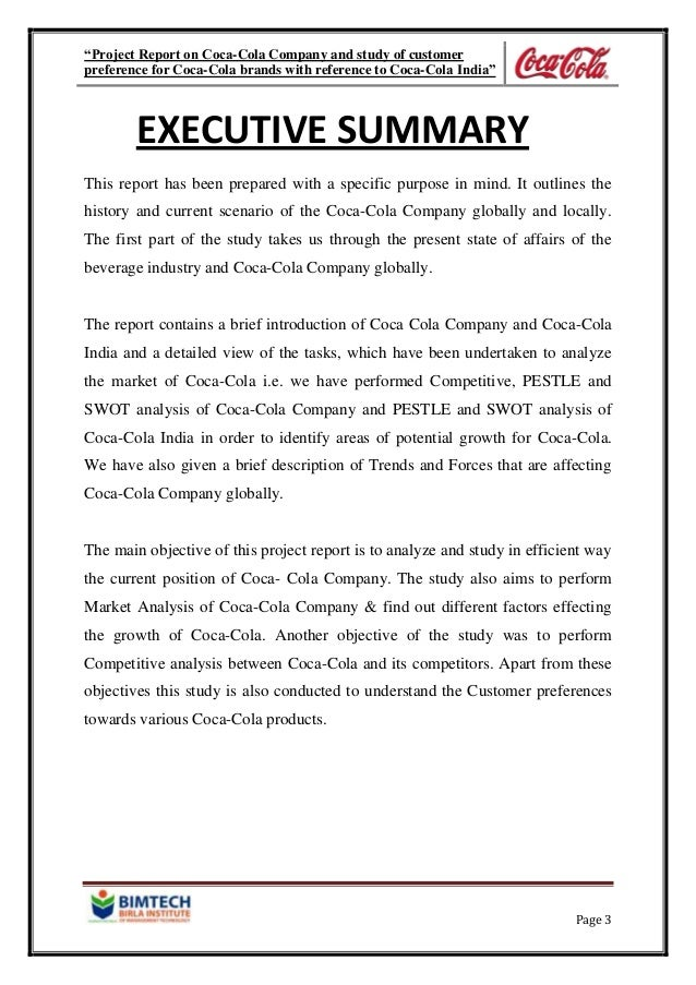 executive summary soft drink industry Executive summary giant soft drink company coca cola has come under intense scrutiny by investors due to its inability to effectively carry out its marketing program consequently it is seeking the help of polianitis marketing company pty ltd to develop a professional marketing plan which will help the business achieve it's objectives more effectively and efficiently, and inevitably regain.