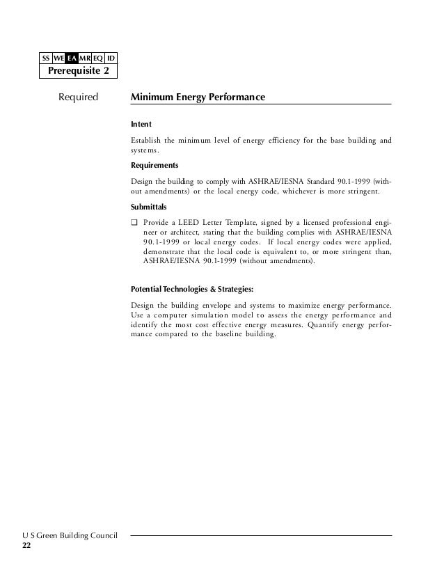 Leed for Leed letter template