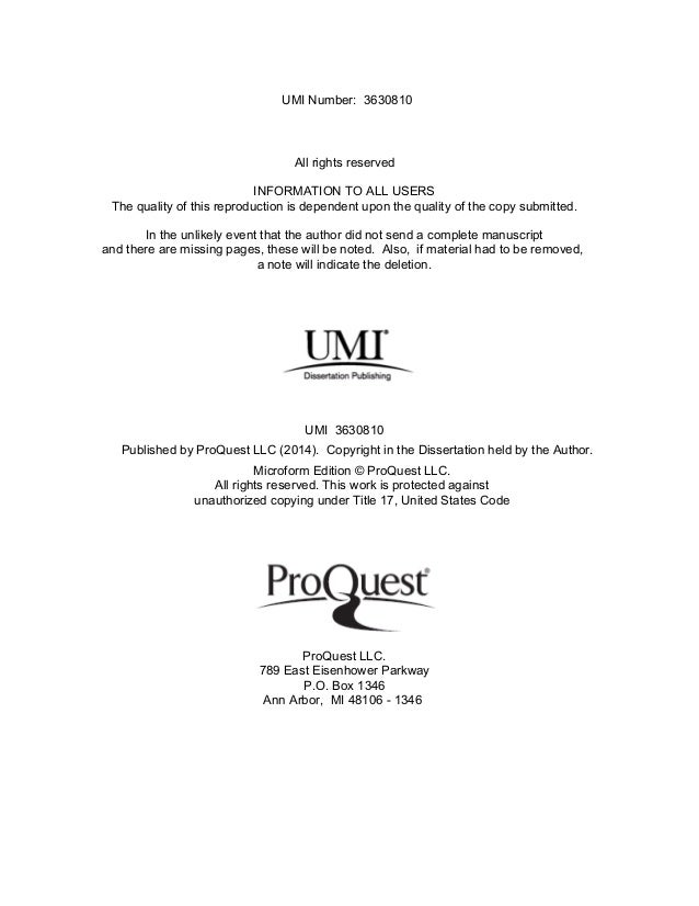 Digital dissertation proquest