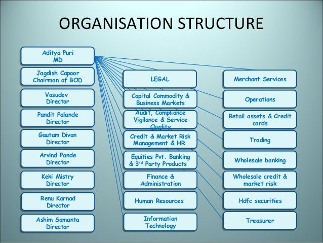 Organizational structure of hdfc bank