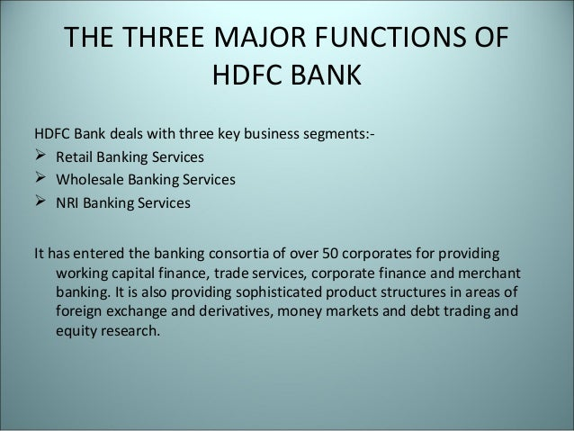 hdfc bank functions Hdfc bank has completed a pilot for ai  too much focus on prevention is unfruitful because there will always be functions that will have residual risk for eg.