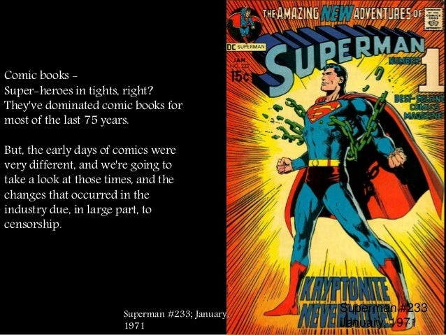 censorship in comic books essay Like small pox and vinyl records, book banning is something many  that lists  which comic books have been censored and outlines what.