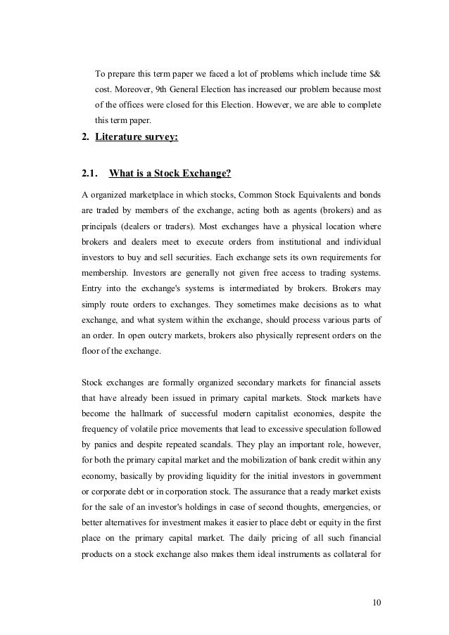 "problem of chittagong stock exchange essay Read this essay on chittagong stock exchange  the term paper on ""chittagong  stock exchange an evaluation of the operation, problems and prospects."