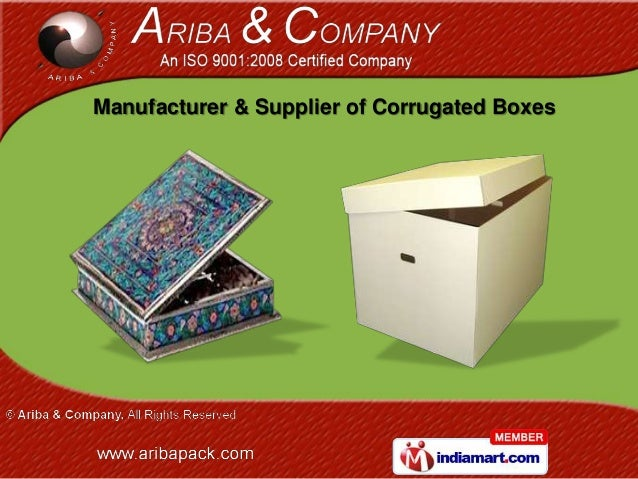 Manufacturer & Supplier of Corrugated Boxes