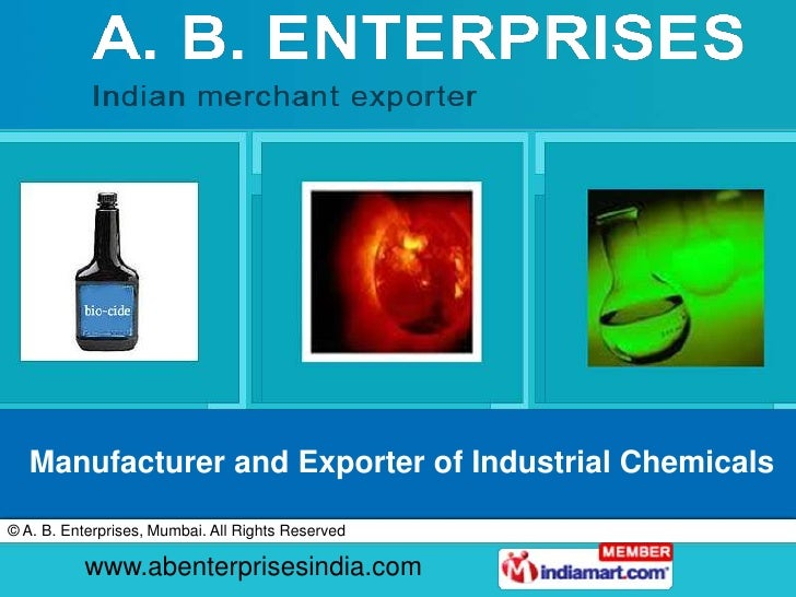 Manufacturer and Exporter of Industrial Chemicals<br />