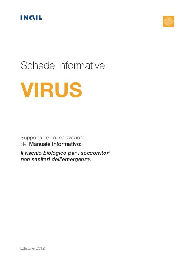N  Schede informative  VIRUS  TERI  Supporto per la realizzazione del Manuale informativo: Il rischio biologico per i socc...
