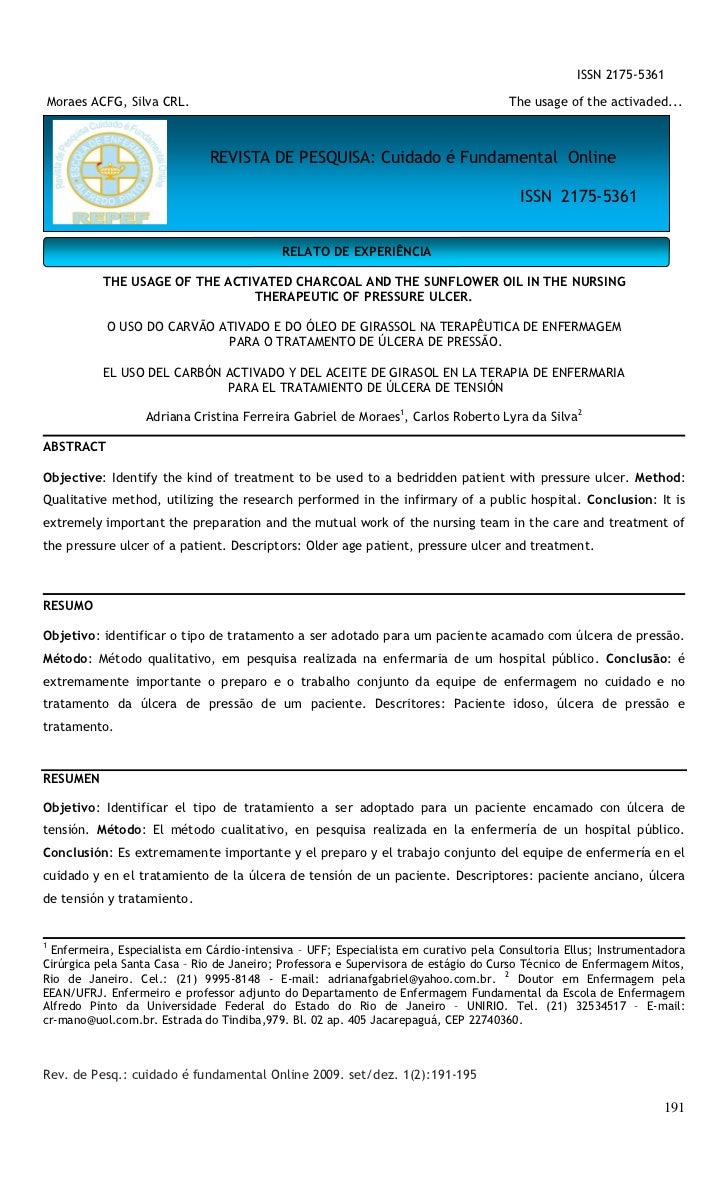 ISSN 2175-5361Moraes ACFG, Silva CRL.                                                             The usage of the activad...