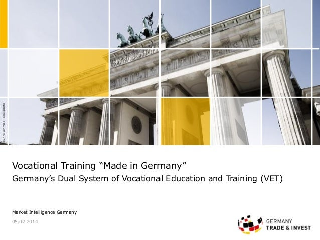 "©ChrisSchmidt-istockphoto Vocational Training ""Made in Germany"" Germany's Dual System of Vocational Education and Training..."
