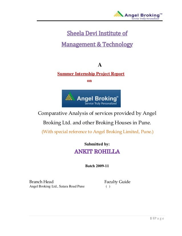 1 | P a g eSheela Devi Institute ofManagement & TechnologyASummer Internship Project ReportonComparative Analysis of servi...