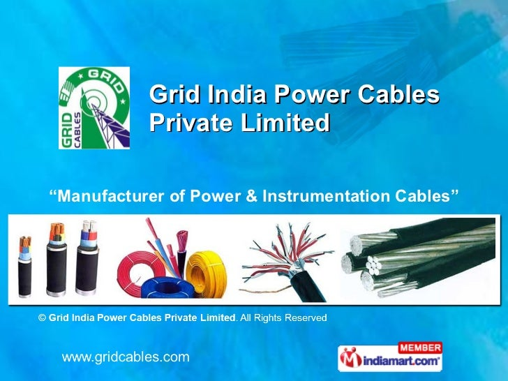 "Grid India Power Cables  Private Limited "" Manufacturer of Power & Instrumentation Cables"""