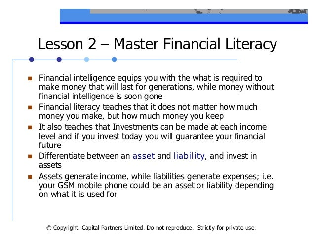 lessons of rich dad poor dad Rich dad, poor dad is one of the staple personal finance books, and is a must read for anybody with a middle class mindset the book was the first to really open my eyes to this world of money that i never knew existed.