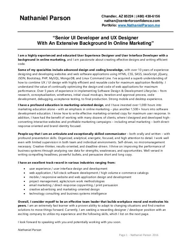 Ui Developer Resumes