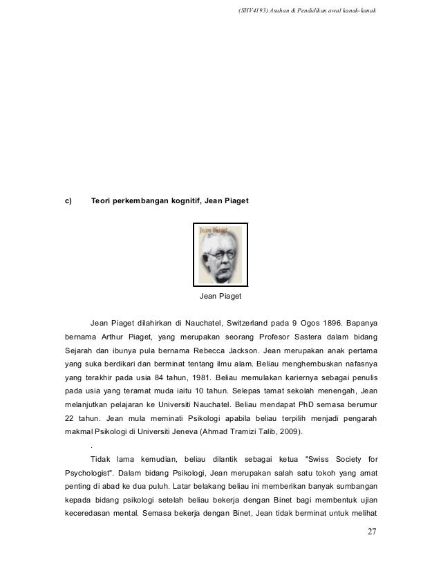 36760501 Teori Dan Model An Awal Kanak Kank
