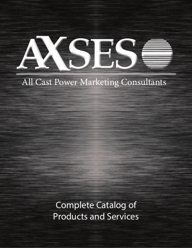 All Cast Power Marketing Consultants Complete Catalog of Products and Services