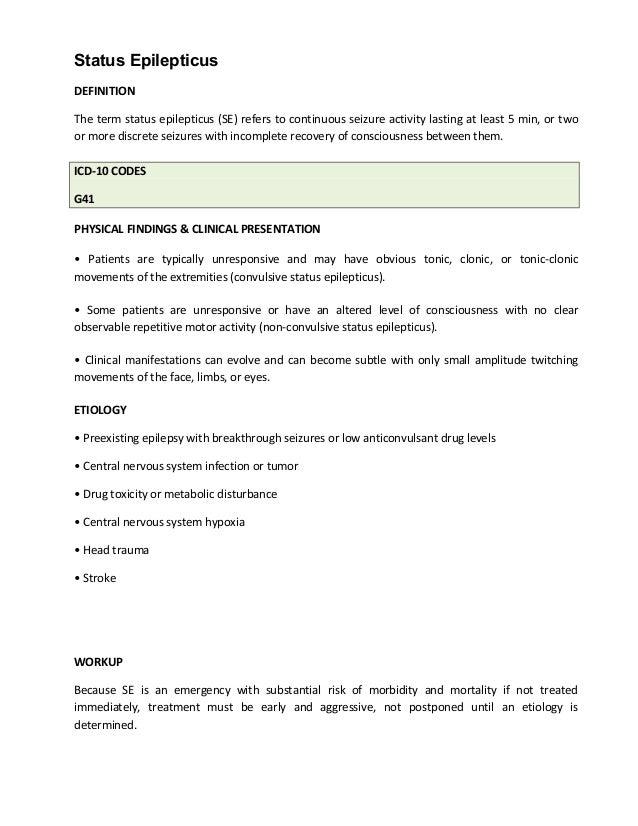Status Epilepticus _Management_Department of Internal Medicine