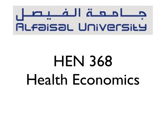 HEN 368Health Economics